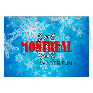 TOP Montreal Winter Fun Card