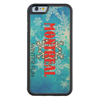 TOP Montreal Winter Fun Carved Maple iPhone 6 Bumper Case