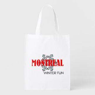 TOP Montreal Winter Fun Reusable Grocery Bag