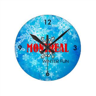 TOP Montreal Winter Fun Round Clock