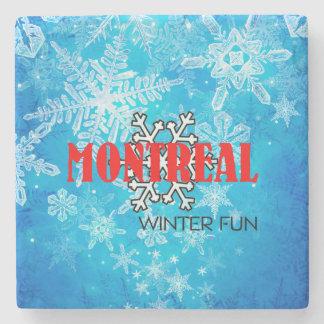 TOP Montreal Winter Fun Stone Coaster