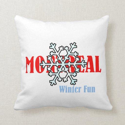 Fun Throw Pillows For Couch : TOP Montreal Winter Fun Throw Pillows Zazzle