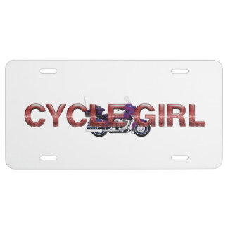 TOP Motorcycle Girl License Plate