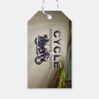 TOP Motorcycle Man Pack Of Gift Tags