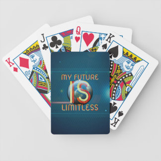 TOP My Future Is Limitless Bicycle Playing Cards