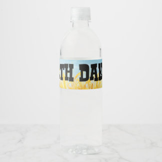 TOP North Dakota Water Bottle Label