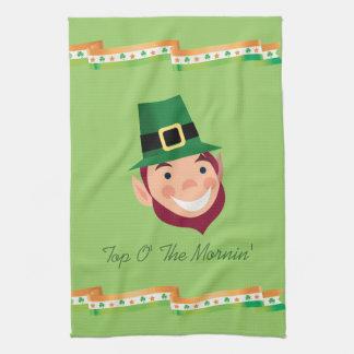 Top O' The Mornin' Irish Leprechaun Kitchen Towel
