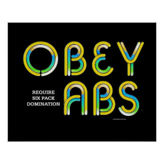TOP Obey Abs Poster