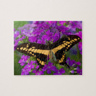 Top of a swallowtail butterfly jigsaw puzzle