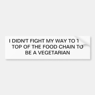 Top of Food Chain Bumper Sticker
