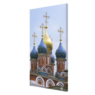 Top of Russian Orthodox Church in Russia Canvas Prints