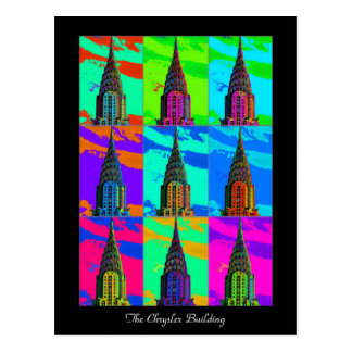 Top of the Chrysler Building Pop Art Postcard