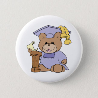top of the class graduation bear design 2 inch round button