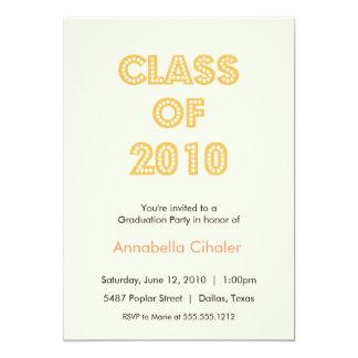 top of the class graduation invitation {orange}