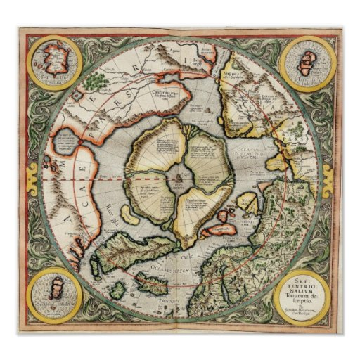 Top of the World - 1595 map Print
