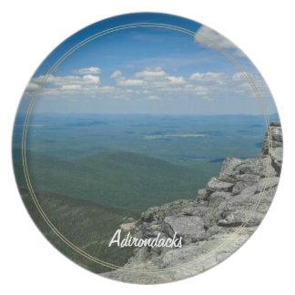 Top of Whiteface Mountain, Adirondacks, NY Party Plates
