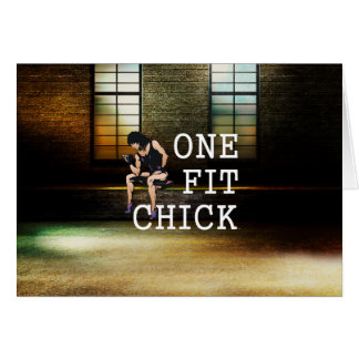 TOP One Fit Chick Card