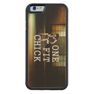TOP One Fit Chick Carved Maple iPhone 6 Bumper Case