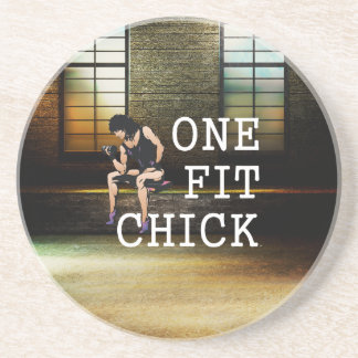 TOP One Fit Chick Coaster