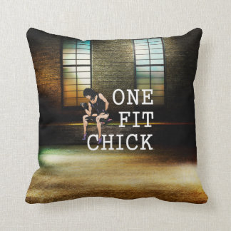 TOP One Fit Chick Throw Pillow