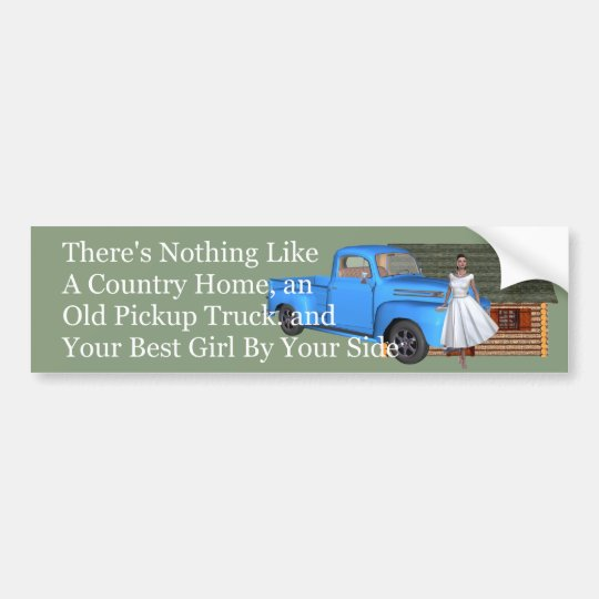 TOP Pickup Truck Bumper Sticker