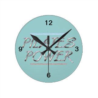TOP Pilates Power Round Clock