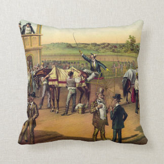 TOP Race Day Throw Pillow