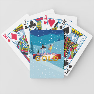 TOP Reach for the Gold Bicycle Playing Cards
