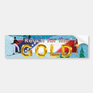 TOP Reach for the Gold Bumper Sticker