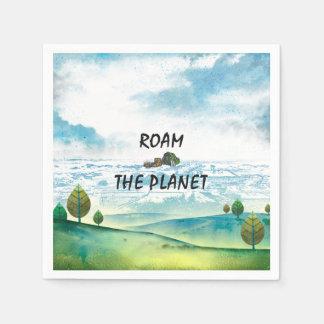 TOP Roam the Planet Disposable Napkins