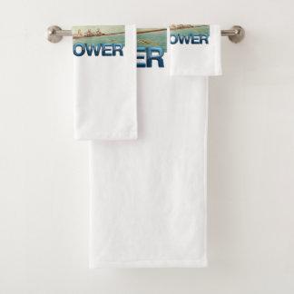 TOP Rower Bath Towel Set