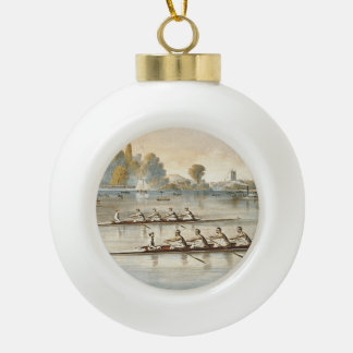 TOP Rowing Ceramic Ball Christmas Ornament