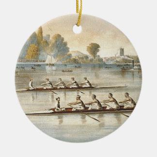 TOP Rowing Round Ceramic Ornament