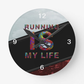 TOP Running is My Life Clock