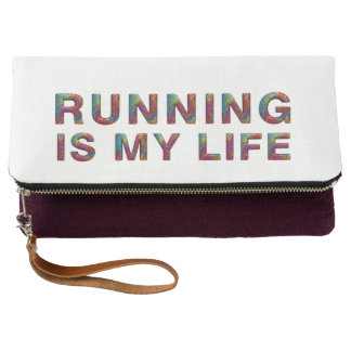 TOP Running Is My Life Clutch