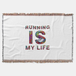 TOP Running is My Life Throw Blanket
