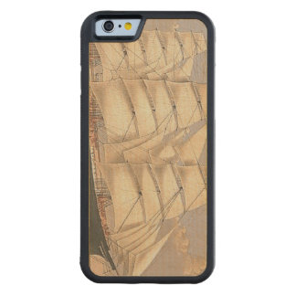 TOP Sailing Seas Carved Maple iPhone 6 Bumper Case
