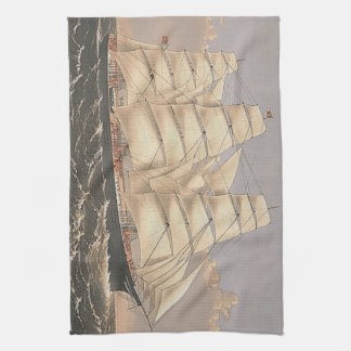 TOP Sailing Seas Kitchen Towel