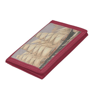 TOP Sailing Seas Tri-fold Wallet