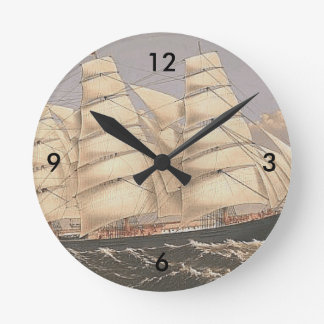 TOP Sailing Seas Wall Clock