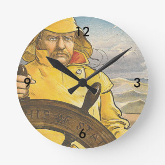 TOP Seafarer Round Clock