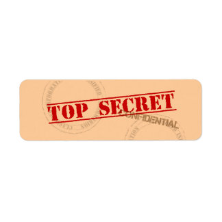 Top Secret Fun Label Stickers