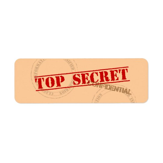 Top Secret Fun Label Stickers Return Address Label