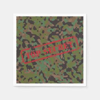 Top Secret GI Camouflage Party Cocktail Napkins
