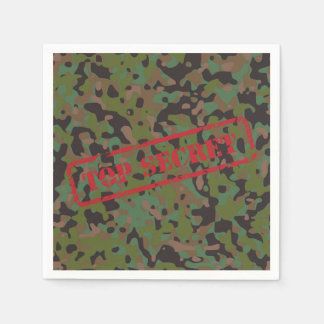 Top Secret GI Camouflage Party Cocktail Napkins Paper Napkin