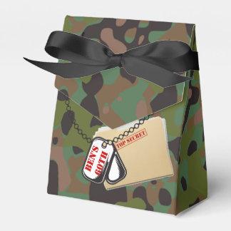 Top Secret GI Camouflage Party Favor Boxes