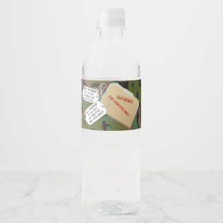 Top Secret GI Camouflage Party Water Bottle Labels