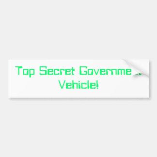 top secret government vehicle bumper sticker