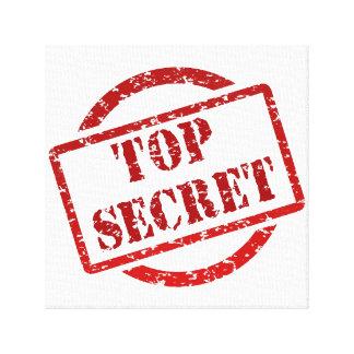Top Secret Image Canvas Stretched Canvas Print