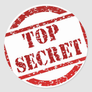 Top Secret image Classic Round Sticker